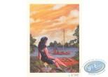 Bookplate Offset, Mafia Story : Girl in waterside