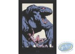 Bookplate Serigraph, Terres d'Ombre : Giant Lizard