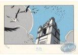 Bookplate Serigraph, Fond du Monde (Le) : Oiseaux en vol
