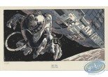 Bookplate Serigraph, Amenophis IV : Monkey in space