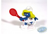 Plastic Figurine, Smurfs (The) : Tennis Smurfette , Made in Portugal 1981