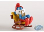 Plastic Figurine, Smurfs (The) : Big Smurf on his rocking chair