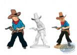 Resin Statuette, Tintin : Tintin en cowboy, Tintin en Amérique Page 18 + album