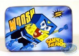 Box, Sponge Bob : Rectangular metal box : SpongeBob 'Super Hero'.