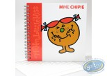 Notebook,  Mr. Men and Little Miss : Spirals Carre book, Mrs. Hussy : Red