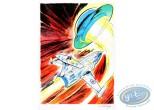Aquarelle, Dan Cooper : Le Mystere des Soucoupes Volantes 2