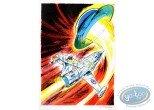 Aquarelle, Dan Cooper : Le Mystere des Soucoupes Volantes