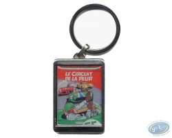 Silvered key ring : 'Le circuitde la peur'