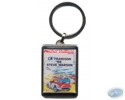 Silvered key ring : 'La trahison de Steve Warson'
