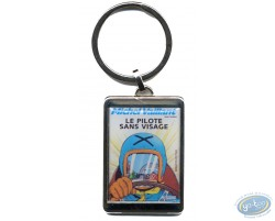 Silvered key ring : 'Le pilote sans visage'