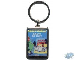 Silvered key ring : 'Route de nuit'