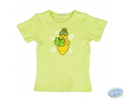 T-shirt short sleeve green  Barbapapa for kid : size 104/110, book