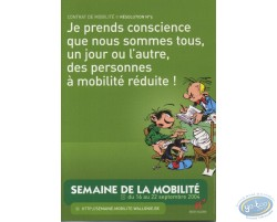 Advertising cards, the mobility's week 2004 with Gaston Lagaffe