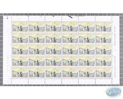 30 Stamps Sheet Le Petit Sablon