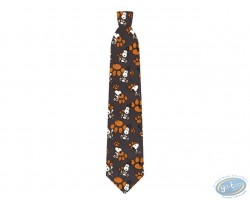 Snoopy foot print grey tie