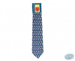 Snoopy walking blue tie