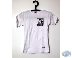 T-shirt hommes blanc motif aigle de Caro type Aquarelles noir blanc