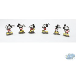 Set of 6 bas relief Mickey