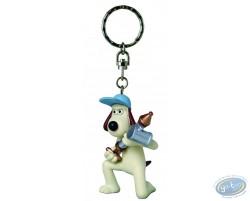 Key ring,Key ring, Wallace & Gromit : Gromit antipesto