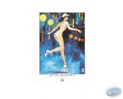 Naked Woman running, Manara