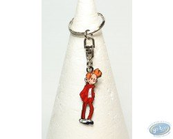 Metal key chain, standing Spirou