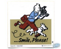 Advertising sticker Smile Please Tintin - Beige