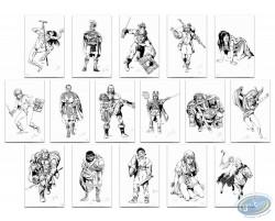 Set of 16 drawings