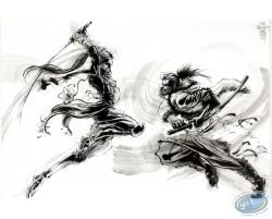 Original drawing - Combat