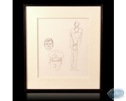 Pencil - presentation of proportions of Corto Maltese - Hugho Pratt