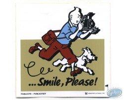 Advertising sticker Smile Please Tintin - Beige