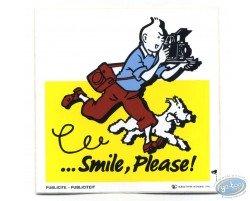 Advertising sticker Smile Please Tintin - Yellow