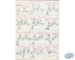 Original Board - Preparatory study of a board of Génial Olivier