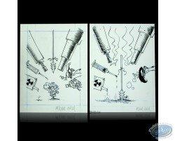 Original drawings - Game Over - Midam / Adam