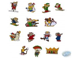 Babar in the winter sports, serial of 14 pines