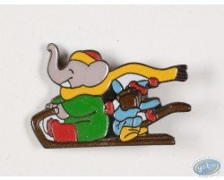 Babar and Zephyr in sled