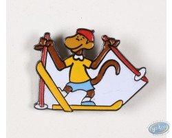 Babar in the winter sports, Zephyr in ski