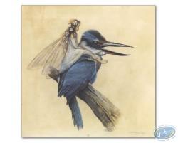 Fairy on bird