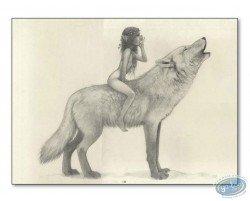 Fairy on wolf