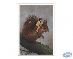 Fairy on squirrel