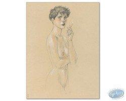 Louise smoking (signed)