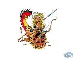 Atalante  Atalante with a shield