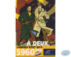Advertising cards, Blake and Mortimer for Eurostar'