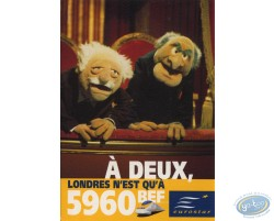 Advertising cards, Muppets for Eurostar