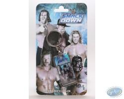 Metal keychain, The Stars of Wrestling:  Edge, Undertaker, Triple H, Joheena, Mysterio