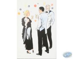"""Bob Morane : postcard """"Bob Morane et...vous souhaitent"""""""