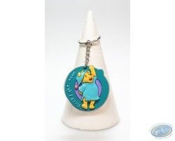 Flat Keyring Winnie standing up in nightdress
