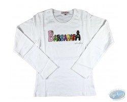 T-shirt long-sleeve white Barbapapa for kid : size 116/122, logo