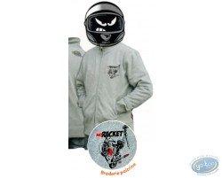 Zipped sweat: NO RACKET grey ash - L