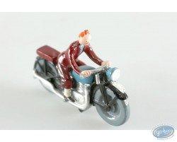 Tintin in motorcycle, Pixi