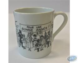 Ceramic mug, greeting card 1972